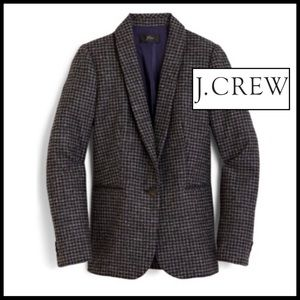 J.Crew Parke Houndstooth Blazer in Charcoal/Black.